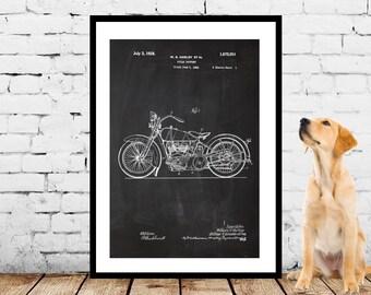 Harley Art, Harley Motorcycle, Harley Motorcycle Patent, Harley Motorcycle Print, Harley Motorcycle Decor, Harley Motorcycle Art p1131