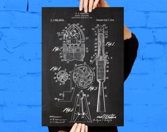 First Rocket Print, First Rocket Poster, First Rocket Patent, First Rocket Blueprint, Space Rocket Decor, Space Rocket Blueprint p121