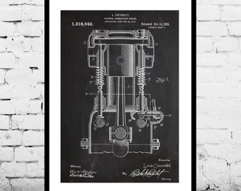 Internal Combustion Engine, Internal Combustion Engine Patent, Internal Combustion Engine Poster, Internal Combustion Engine Art, p1125
