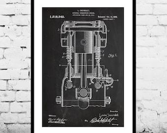 Internal Combustion Engine, Internal Combustion Engine Patent, Internal Combustion Engine Poster, Internal Combustion Engine Art, p1125