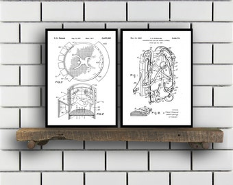 skydiving Patents Set of 2 Prints skydiving Prints skydiving Posters skydiving Blueprints skydiving Art skydiving Sp359