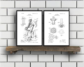 Chemistry Patents Set of 2 Prints Chemistry Prints Chemistry Posters Chemistry Blueprints Chemistry Art Chemistry Wall Art Sp308