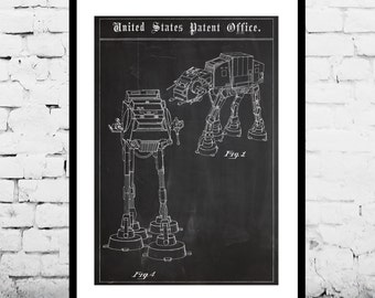 Star Wars patent AT-AT Walker patent art patent Star Wars Poster Star Wars Patent Millennium Falcon Star Wars Print p1382
