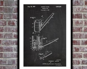 Smoking Pipe Patent Smoking Pipe Poster Smoking Pipe Blueprint Smoking Pipe Print Smoking Pipe Art Smoking Pipe Decor p270
