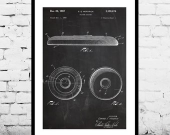 Frisbee Poster, Frisbee Patent, Frisbee Decor, Frisbee Art, Frisbee Print, Frisbee Wall Art, Frisbee Blueprint p804