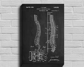 CANVAS  Anatomical Spine PatentAnatomical Spine Poster Anatomical Spine Blueprint Anatomical Spine Print Anatomical Spine Art p012