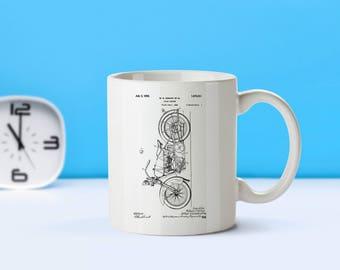 Harley Davidson Biker patent mug  coffee mug  coffee lover  patent art  patent mug  Biker Gift Motorcycle CollectibleBiker DecorM214