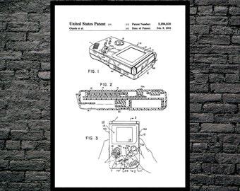 Game Boy Nintendo Poster, Game Boy Nintendo Patent, Game Boy Nintendo Print, Game Boy Nintendo Art, Game Boy Nintendo Decor, Gameboy p1200