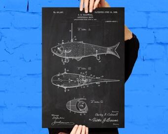 Fishing Artificial Bait Print, Fishing Artificial Bait Poster, Fishing Artificial Bait Patent, Fishing Artificial Bait Decor p122