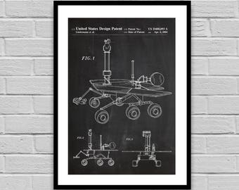 Mars Rover Patent, Mars Rover Patent Poster, Mars Rover Blueprint, Mars Rover Print, Home decor, Science Gift, Space Collectible p204