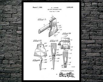 Fireman's Axe Patent , Fireman's Axe Poster, Fireman's Axe Print, Fireman's Axe Art, Fireman's Axe Decor, Fireman's Axe Wall Art p035