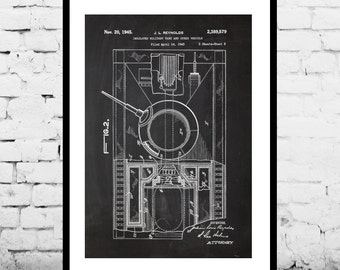 Tank Patent Military Poster Military Tank Patent Military Tank Print Military Tank Art Military Tank Decor Military Tank Blueprint p1290