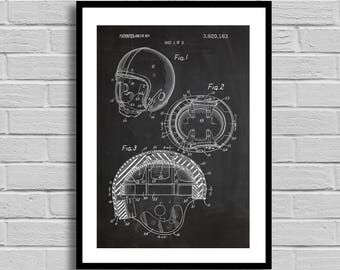 Football Helmet Patent, Football Helmet Patent Poster, Football Helmet Blueprint, Football Helmet Print, Sports Decor,Football Decor,p793