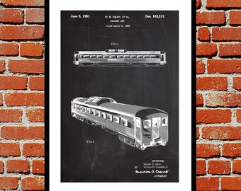 Railway Car Print Railway Car Poster Railway Car Patent Railway Car Decor Railway Car Art Railway Car Blueprint Railway Car Wall Art p439