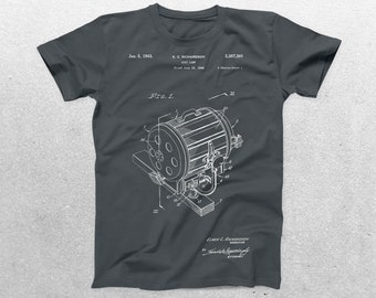 Spotlight Patent T-Shirt, Spot Lamp Blueprint, Patent Print T-Shirt, Theatre Shirt, Gifts for Actors, Actress Gift p214