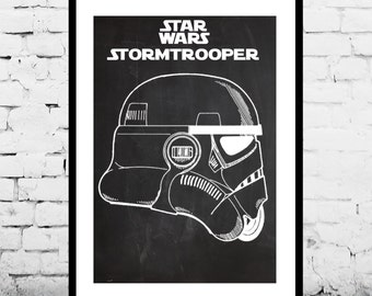 Star Wars Stormtrooper Toy Helmet Star Wars Stormtrooper Poster Geek Decor Patent Print Poster Wall Decor May the 4th p1388