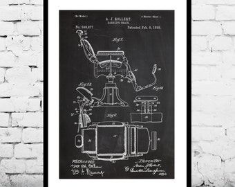 Barber Chair Barbers Chair Patent Barbers Chair Poster Barbers Chair Art Barbers Chair Decor Barbers Chair Blueprint p039