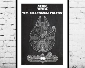 Star Wars Millennium Falcon Star Wars Poster Millennium Falcon Star Wars Patent Millennium Falcon Star Wars Print Millennium Falcon p1414