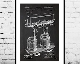 Beer Kegs Beer Poster Beer Patent Beer Print Beer Art Beer Decor Beer Blueprint Beer Sign Beer Wall Art p1238
