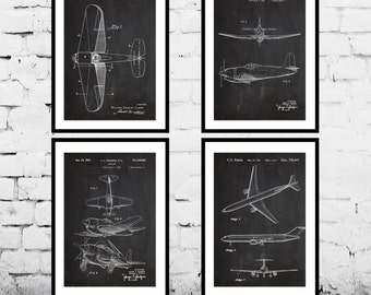 Airplane Patent Aircraft Poster Airplane Art Aviation Decor Airplane Wall Art Airplane Blueprint Aviation gifts Gifts for pilots sp501