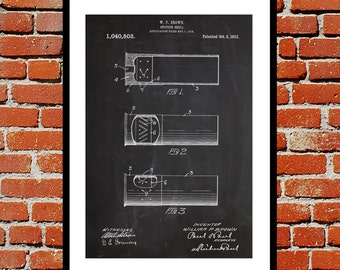 Shotgun Shell Print Shotgun Shell Patent Shotgun Shell Art Artillery Shell Decor Shotgun Art Shotgun Wall Art  p263