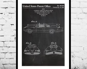 Batman Batmobile Patent, Batman Batmobile Poster, Batman Batmobile Print, Batman Batmobile Art, Batman Batmobile Blueprint p1090