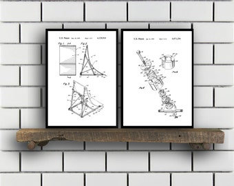 Skateboard Patents Set of 2 Prints Skateboard Prints Skateboard Posters Skateboard Blueprints Skateboard Art Skateboard Wall Art Sp401