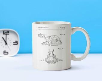 Star Wars Slave One patent mug  coffee mug  coffee lover  patent art  patent mug  Star Wars  Sci FiM34