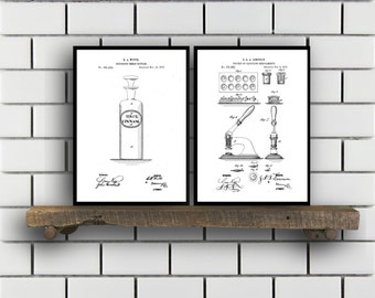 Drugstore Patent Prints Set of TWO Drugstore Invention Patents Drugstore Poster Drugstore Inventions Pharmacist Decor Pharmacy SP381