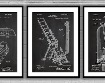 Firefighter Patent prints, Firefighter Poster, Firefighter Art, Firefighter Decor, Firefighter Wall Art, Firefighter Blueprint,Fireman SP575