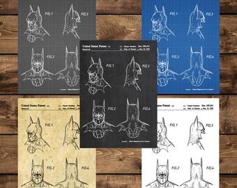 INSTANT DOWNLOAD - Batman Print, Batman Mask Patent, Batman Mask Poster, Batman Mask Art, Batman Mask Decor, Batman Mask, Patent, Patent art