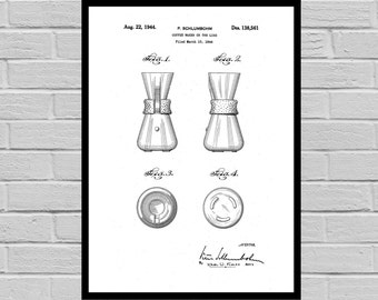 Coffee Related Patent - Coffee Maker - Coffee Art - Coffee Poster - Coffee Grinder Patent - Percolator Patent - French Press Patent p503