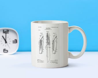 Hunting Knife patent mug  coffee mug  coffee lover  patent art  patent mug  Hunting Decor Vintage Knife Collectible OutdoorsM193