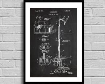 Shower Fixture Patent Shower Fixture Patent Poster Shower Fixture Blueprint Shower Fixture Print Bathroom Decor Home DecorPlumber Gift p1049
