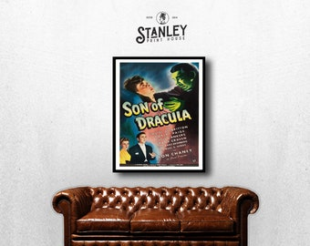 MOVIE poster vintage Son of Dracula Classic Horror space poster Poster Art Vintage Print Art Home Decor movie poster Halloween Decor sp618