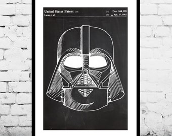 Star Wars Darth Vader Star Wars Poster Star Wars Patent Star Wars Print The Force Awakens p952