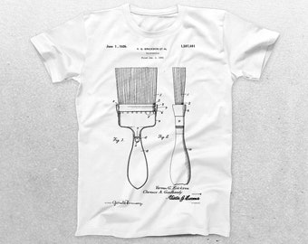 Paintbrush Patent T-Shirt, Paintbrush Blueprint, Patent Print T-Shirt, Gifts for Artists, Art Teacher Gifts, Painter T-Shirt p678