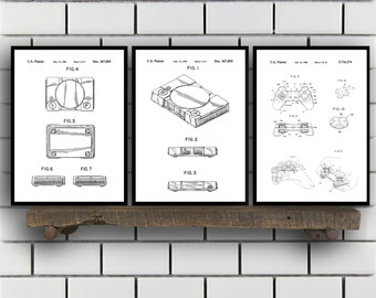 Sony Playstation Patents Set of 3 Prints, Playstation Trucks, Playstation Ramp, Playstation Blueprints, Playstation Art, Playstation SP408
