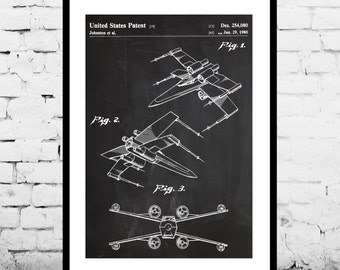Star wars patent Star Wars Poster Star Wars Patent art patent art X Wing Star Wars Print X Wing Star Wars Art X Wing Star Wars decor p943