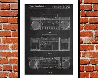 Boombox Patent, Boombox Poster, Boombox Print, Boombox Art, Boombox Decor, Boombox Blueprint, Vintage Boombox Art, Boombox Design p057