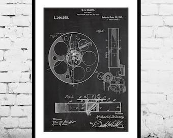 Film Reel Patent Film Reel Poster  Film Reel Print Film Reel Art Film Reel Decor Film Reel Wall Art Film Reel Blueprint Film Art p546