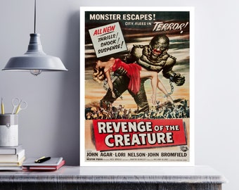MOVIE poster vintage Revenge Of The Creature Classic Horror poster Poster Art Vintage Print Art Home Decor movie poster Collectible sp617