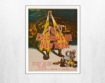 MOVIE poster vintage The Colossus Of New York Classic Horror space poster Poster Art Vintage Print Art Home Decor movie poster Movies sp625