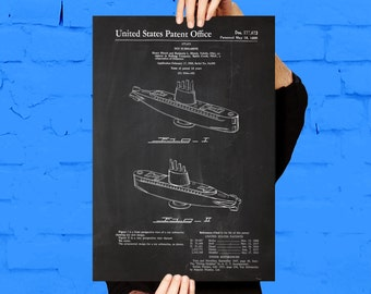 Toy Submarine Patent, Toy Submarine Poster,  Toy Submarine Print, Toy Submarine Art, Toy Submarine Decor p1220