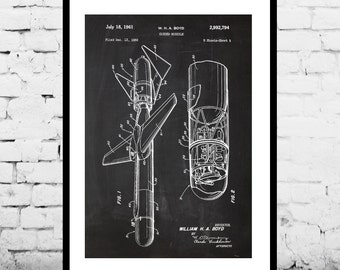 Missile Art Guided Missile Poster Guided Missile Patent Guided Missile Print Guided Missile Blueprint Guided Missile Wall Art sp369