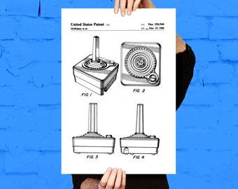 Atari Controller Poster, Atari Controller Art, Atari Controller Print, Atari Controller Patent, Atari Controller Decor, Vintage game  p1178