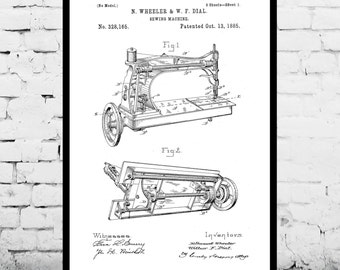Sewing Machine Poster Sewing Machine Print Sewing Machine Patent Sewing Machine Blueprint Sewing Machine Art Sewing Machine Decor p710