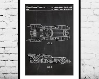 Batman Batmobile Print Batman Batmobile Patent Batman Batmobile Poster Batman Batmobile Art Batman Batmobile Decor Batman Batmobile p906