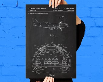 Airplane Cabin Patent Airplane Cabin Poster Airplane Cabin Blueprint  Airplane Cabin Print Airplane Cabin Art Airplane Cabin Decor p356