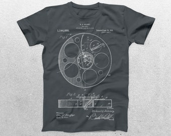 Film Reel Patent T-Shirt, Film Reel Blueprint, Patent Print T-Shirt, Film Director Shirt, Movie Camera Shirt p112